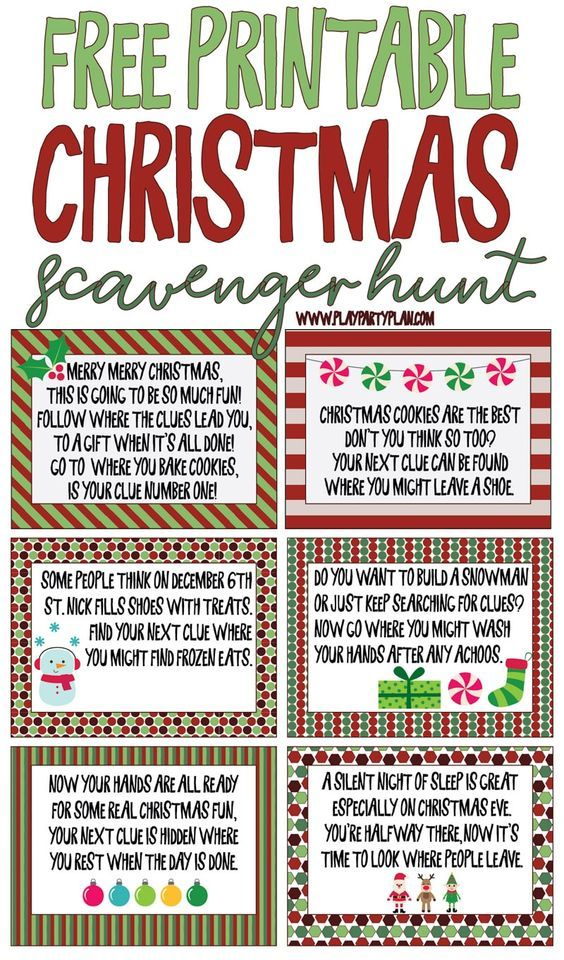 image about Christmas Scavenger Hunt Printable Clues named Cost-free printable Xmas scavenger hunt clues for little ones or