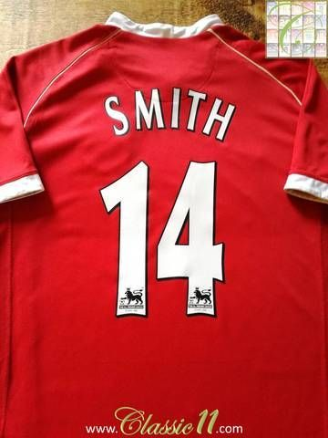 568b2948607 Official Nike Man Utd home football shirt from the 2006 07 season. Complete  with Smith  14 on the back of the shirt in Premier League lettering.  men   ...