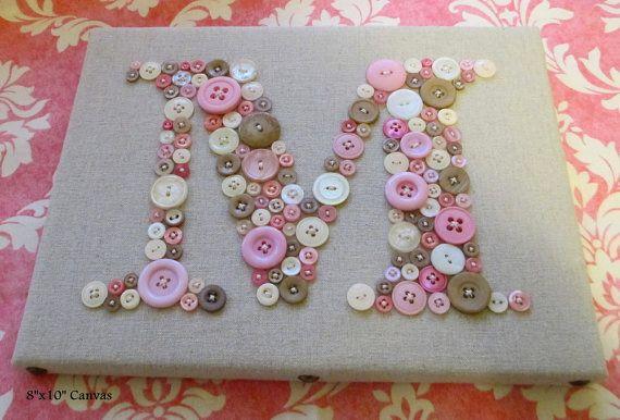 Pépinière personnalisé mur art bouton par letterperfectdesigns
