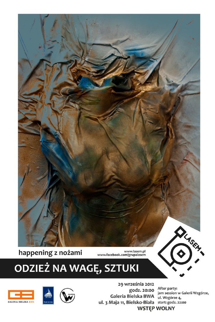 poster to LASEM exhibition and performance in Gallery of Bielsko-Biala BWA  #posters #art #bielskobiala #poland