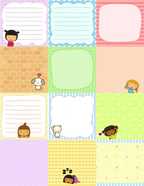 note papers perfect for a little girl