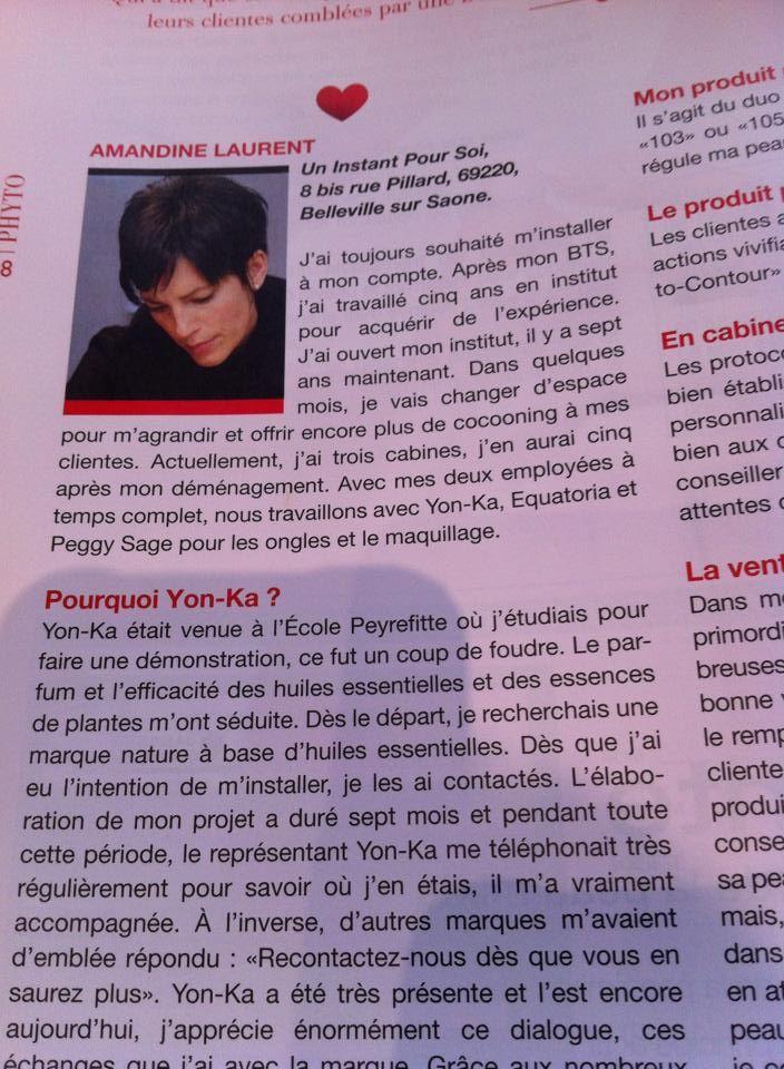 Amandine Laurent, ancienne élève de Peyrefitte Esthétique, est interviewée par le plus grand journal de la profession ! Magic !