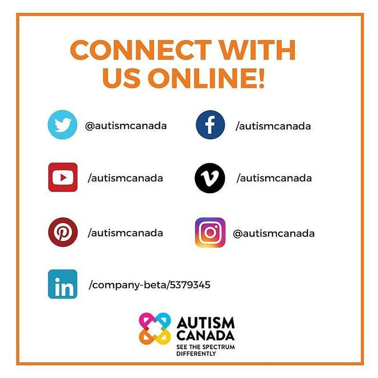 Different platforms different content! Stay updated on Canadian #Autism Awareness & Acceptance Month initiatives autism news research events and more by following us on our other pages.
