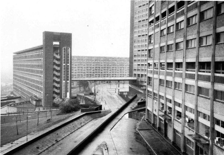 Park Hill, Sheffield, 1962. From Tower Block: Modern Public Housing in England, Scotland, Wales and North Ireland, by Miles Glendinning & Stefan Muthesius.