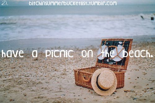 [✓] Have A Picnic On The Beach        Buuuuuut I want to do it again