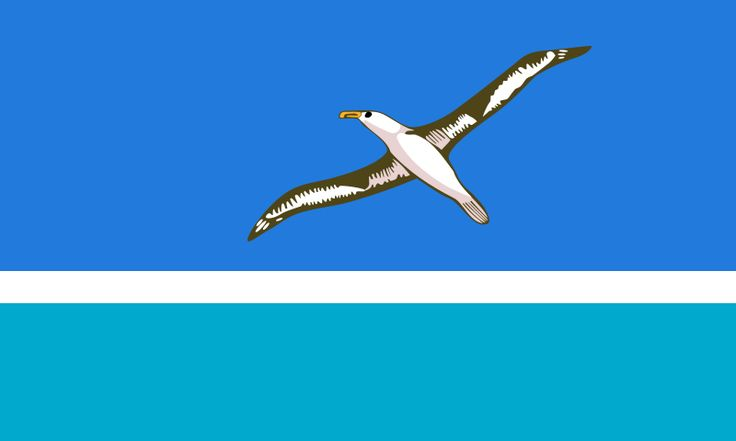 Flag of the Midway Islands - territory of USA. Located in Oceania