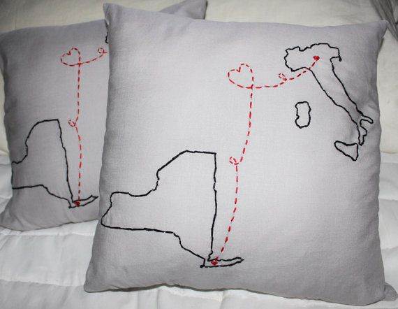 Long Distance Pillow SET OF 2, Long Distance Relationship, Best Friend Long Distance, Long Distance Boyfriend, Long Distance Friendship
