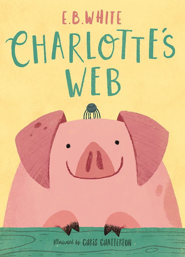 Printable Charlotte S Web Book Cover : Charlotte s web book cover illustration by chris