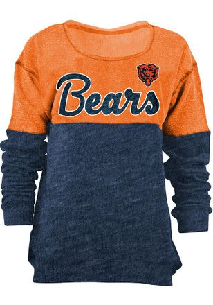 Chicago Bears Womens Triblend Navy Blue Crew Sweatshirt https://www.fanprint.com/stores/american-dad?ref=5750