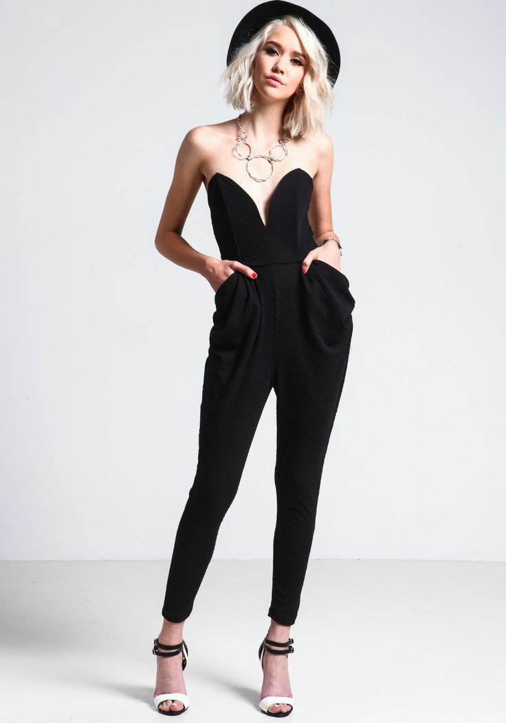 Black Sweetheart Jumpsuit - Love Culture | Outfit Ideas // Street Style | Pinterest | Culture ...