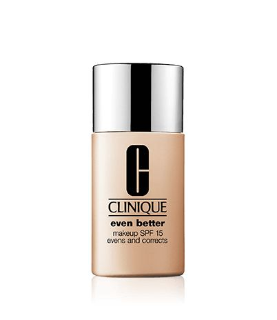Wear oil-free, dermatologist-developed Even Better Makeup SPF 15 and something amazing happens: Without any makeup, see improved clarity, a more even skin tone, visibly diminished age spots. For all ethnicities. In just 4 to 6 weeks. Broad spectrum SPF helps protect against future darkening. For continued benefits-even after you take it off-partner with Even Better Clinical Dark Spot Corrector.
