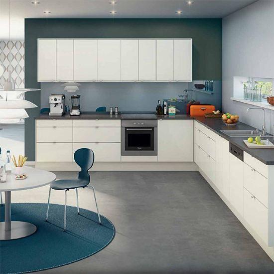Kjøkken - Kvadrat Hvit høyglans - Bygger´n