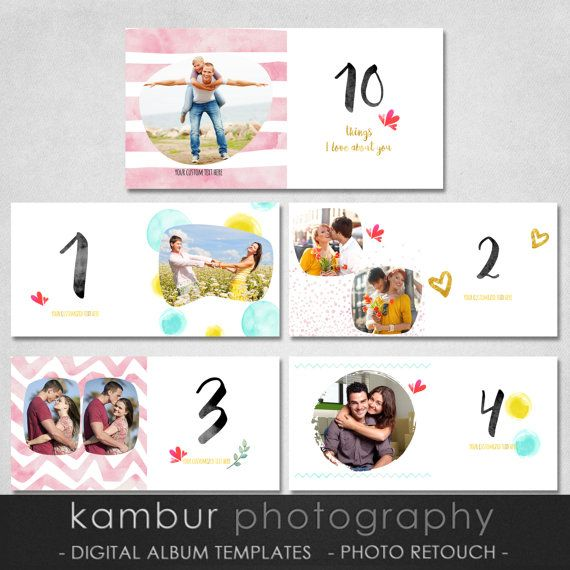 12x12 22 Pages Psd Watercolor Love Story Book Al Template