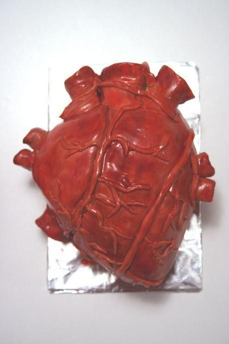 heart cake! a little creepy...but maybe appropriate?