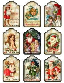 Sheet kerst labels