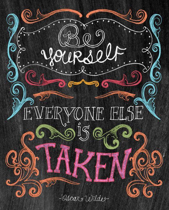 Chalkboard Art-Be Yourself-8x10 by tammysmithdesign