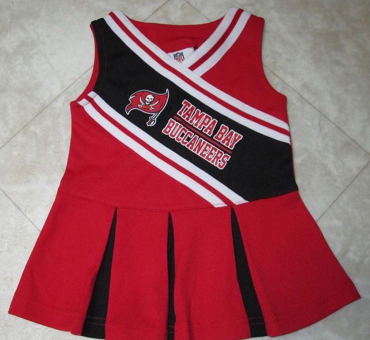 NEW TAMPA BAY BUCCANEERS NFL TEAM APPAREL GIRLS  CHEERLEADER DRESS/JUMPER 12 MOS #NFLTeamApparel #dressjumper