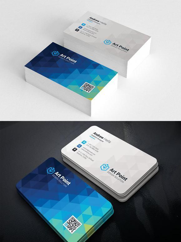 Polygon Background Business Cards Credit Card Design Graphic Design Business Card Company Business Cards