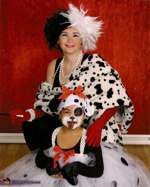 101 Dalmatians and Cruella DeVille - Halloween Costume Contest via @costumeworks