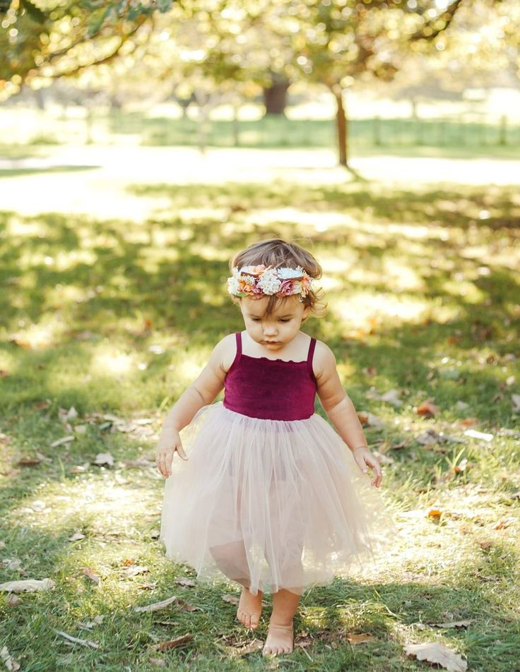 Anna Velour and Tulle Dress - Wine