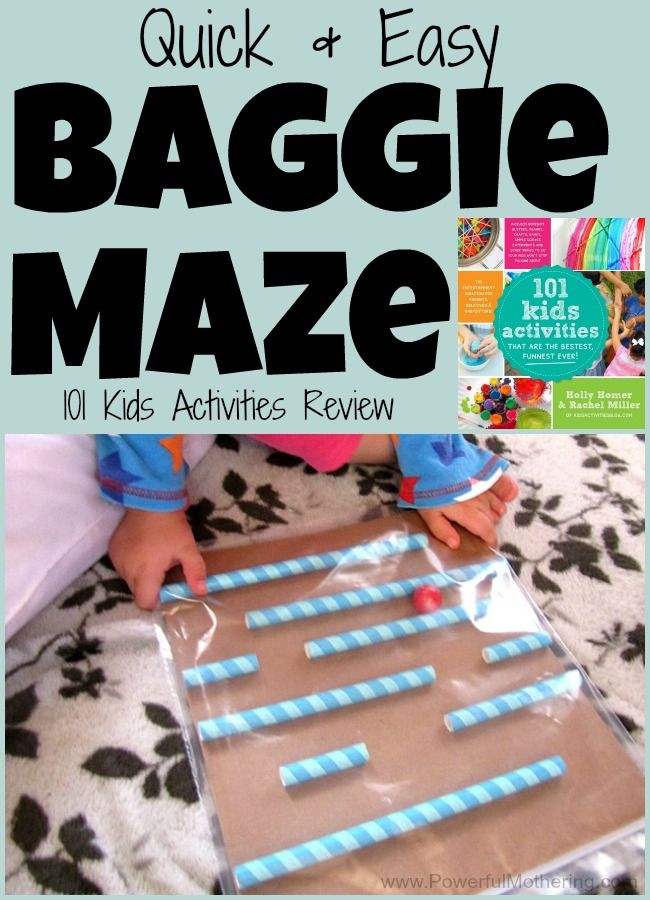 Quick & Easy Baggie Maze (Great boredom buster!) from PowerfulMothering.com