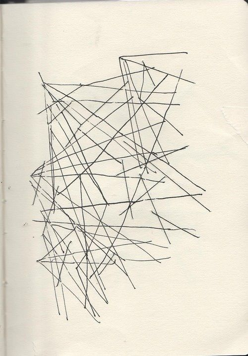 Page from sketchbook  #threads #lines #ink