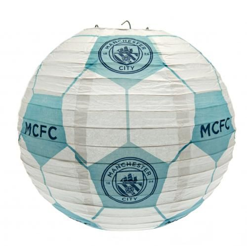 Manchester City light shade, made from paper, in club colours and featuring the NEW club crest. FREE DELIVERY on all of our football gifts