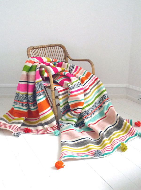 Sring Stripes blanket & bespread, designed by kira-cph.com Colorful stripes