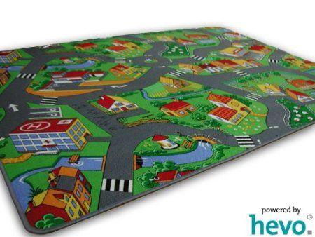 Stadt Land Fluss HEVO Strassen Spielteppich 200x300 cm: Amazon.de: Küche & Haushalt