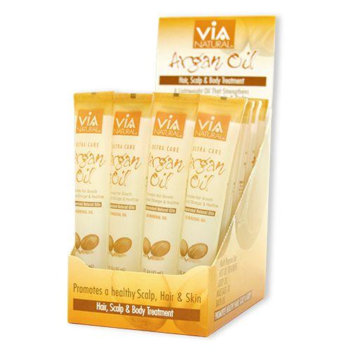 ViA Natural Oil for Hair, Scalp & Body Treatment (Argan Oil) (1.5oz / 24pcs)