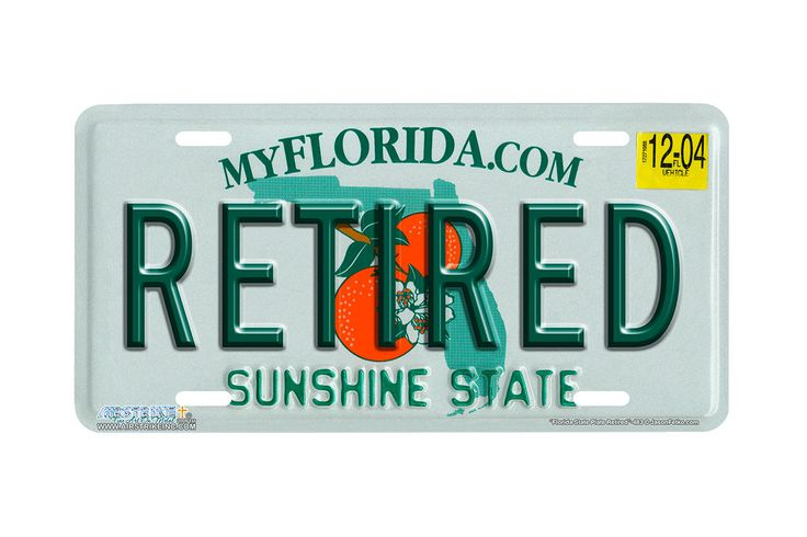 "Airstrike® 483-""Florida State Plate Retired""-Florida Novelty License Plates"