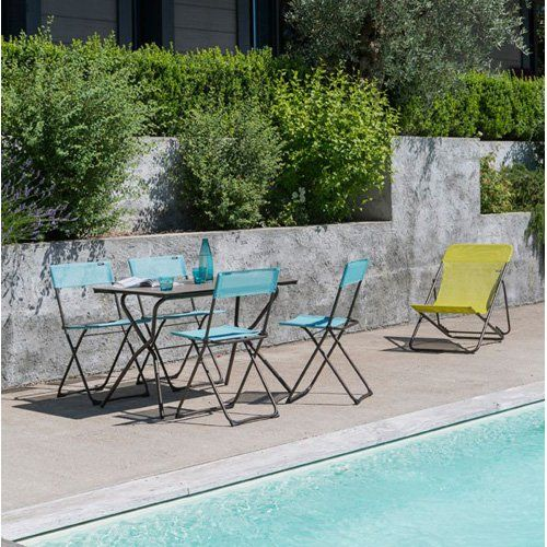 Outdoor Lafuma Anytime Batyline Narrow Back Sling Folding Lawn Chair - Set of 2 - LFM2600-8227