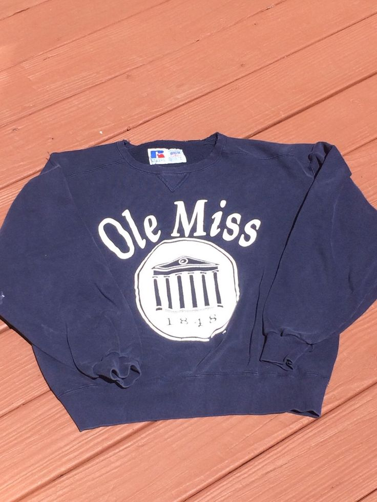 A personal favorite from my Etsy shop https://www.etsy.com/listing/384457794/vintage-80s-ole-miss-sweatshirt-ncaa