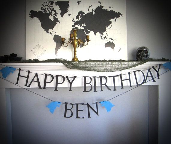 Game Of Thrones Happy Birthday Banner, House Stark Happy Birthday Banner, Game of Thrones Birthday, Game of Thrones Theme, Custom Banner