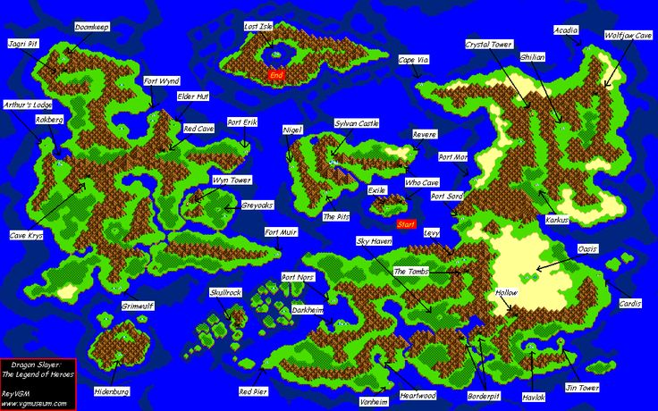 The Video Game Atlas - TurboGrafx 16 Maps