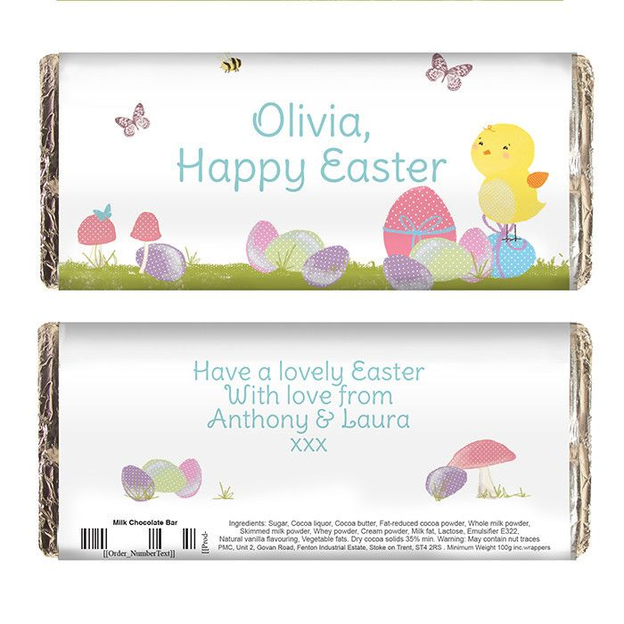 29 best easter gift ideas not just chocolate images on pinterest this wonderfully colourful and bright chick themed chocolate bar truly makes a perfect easter gift personalise the front of the chocolate bar wrapper negle Images
