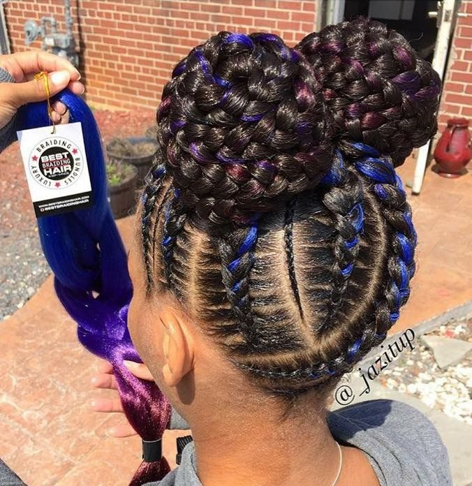 25 trending black kids hairstyles ideas on pinterest natural beautiful braided updo with a hint of colour by jazitup urmus Image collections
