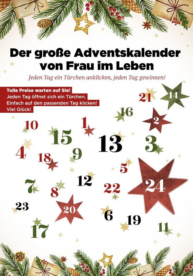 Gewinnspiel Adventskalender Adventkalender Frau Im Leben