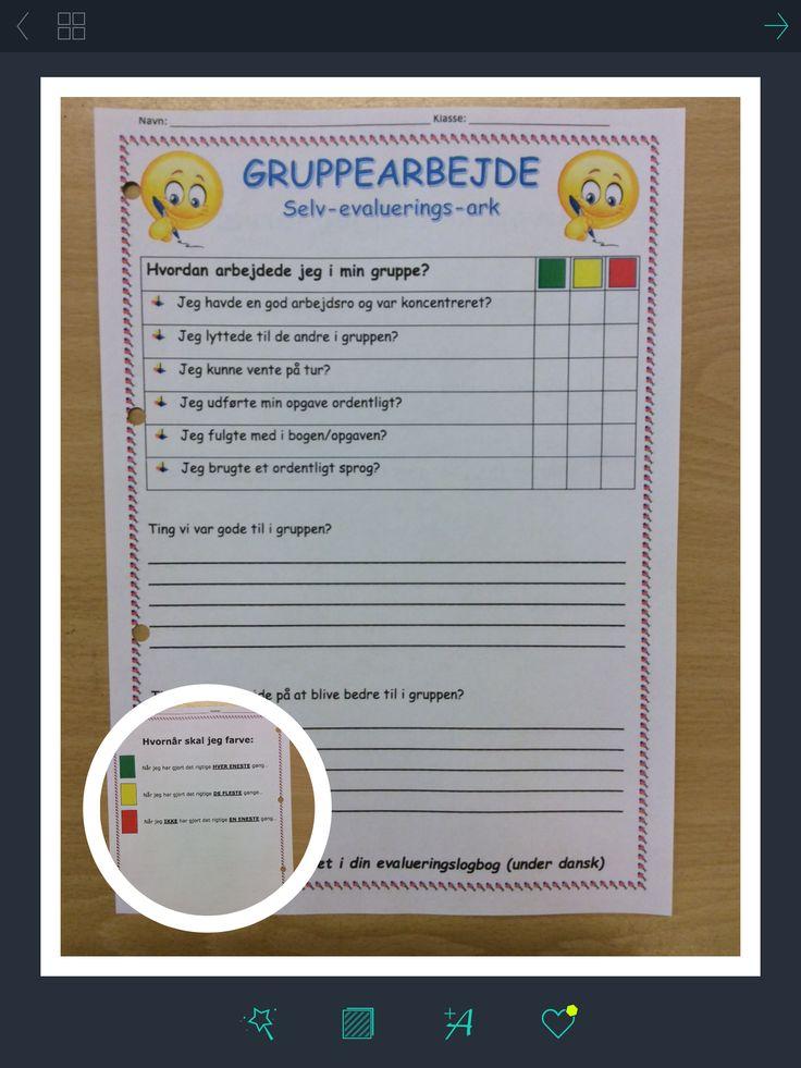 Dagens selv-evaluerings-ark ... Brugt efter rollelæsning i grupper. Min klasse skal selv evaluere/give feedback på deres egen arbejdsindsats for at synliggøre overfor dem selv, hvordan deres arbejde har været...