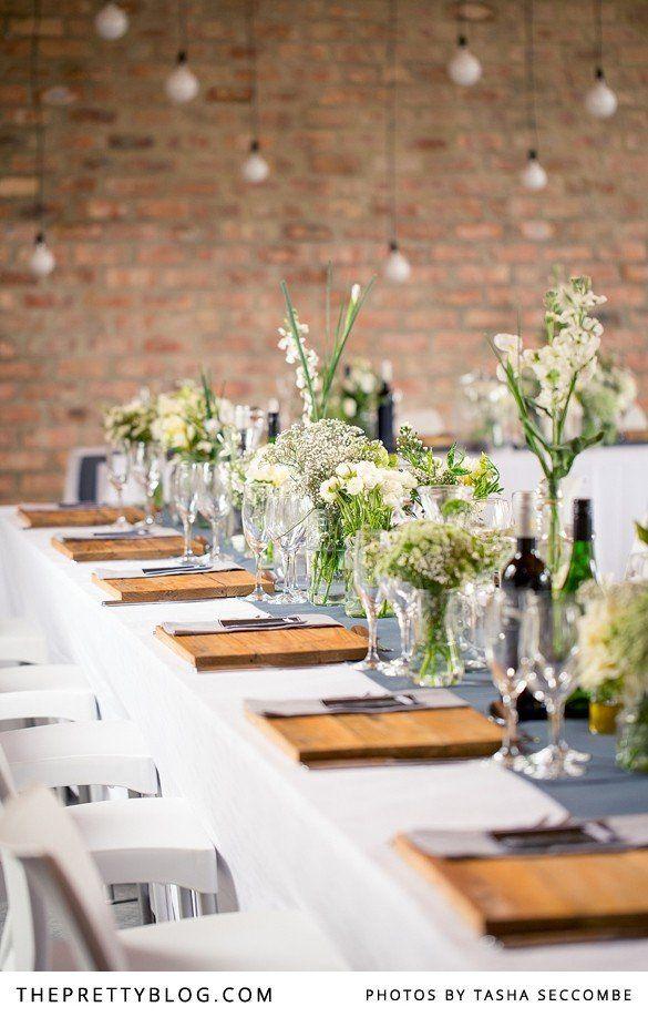 Green, White  Natural table decor | Photographer: @Tasha Adams Adams Seccombe, Venue  Catering: Rockhaven