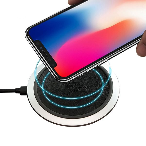 FLOVEME 10W Qi Wireless Charger With LED Light For iPhoneX 8Plus Samsung S8 S7 Edge Note 8