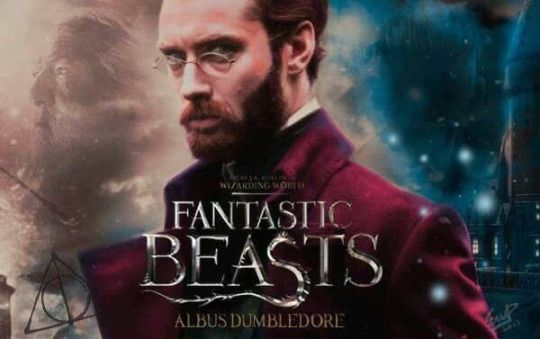 Jude Law as Albus Dumbledore.