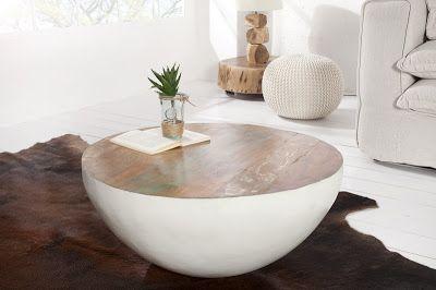 Luxusný nábytok REACTION: Konferenčný stolík JATAKAR WHITE.