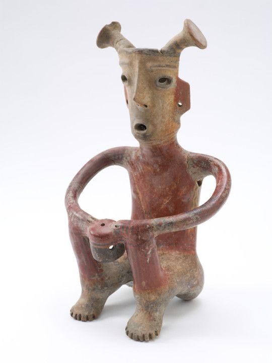 Seated Male Figure Mexico, Jalisco, shaft tomb culture, 200 B.C. - A.D. 500 Tlatollotl