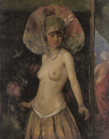 A Dancer in costume (1900-09) León (Lev) Bakst ( Rusia, 1866-1924)