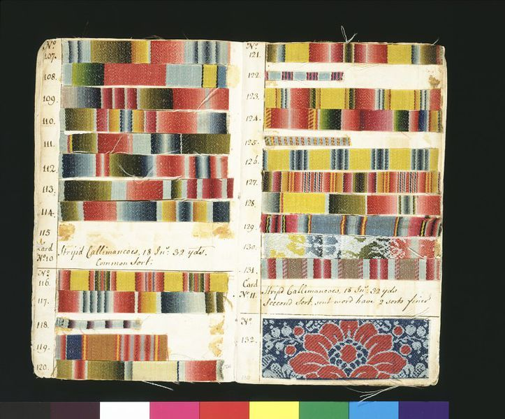 Textile Pattern book | Norwich, United Kingdom | 1763| John Kelly | Worsted (wool) samples