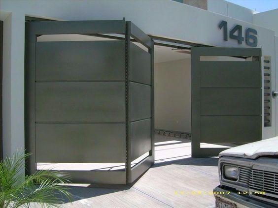 Best 25 dise os de portones ideas on pinterest fachadas for Disenos de portones