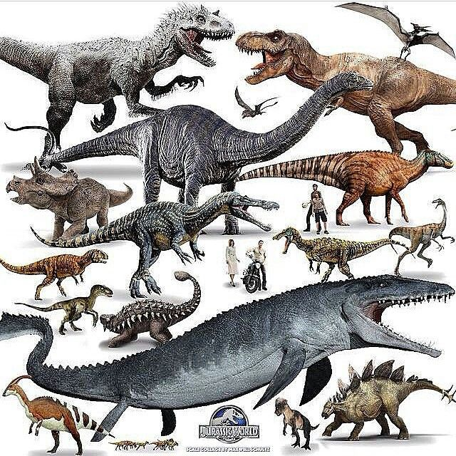 what dinosaurs are featured in jurassic world