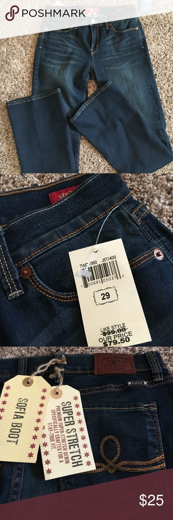 Lucky Jeans Outlet purchase brand new dark wash lucky jeans Lucky Brand Jeans Boot Cut