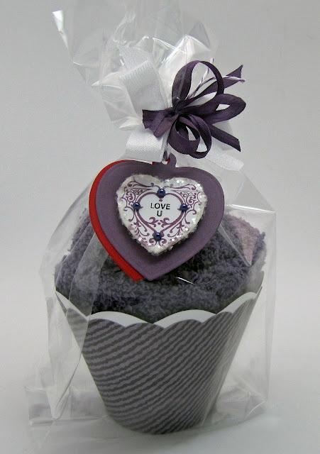 fuzzy slipper cupcake using Winter Words designed by Barb Schram